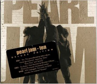 2 CD DVD Pearl Jam Ten SEALED New Deluxe Edition