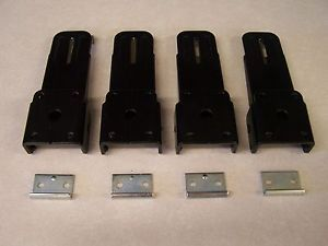 Pop Up camper Roof Latch Black Set of 4 Silver Catch