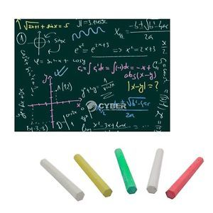 5pcs Chalks DIY Chalkboard Removable Wall Decal Self Adhesive Green Board DZ88