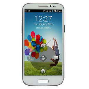 "White Unlocked 5"" S4 I9500 Android 4 2 Multi Touch GSM Dual Sim Smart Cell Phone"