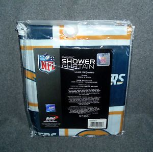 San Diego Chargers NFL Fabric Shower Curtain NIP