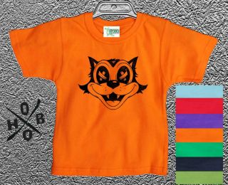 Cool Cat Hobo Designs T Shirts Kids Childrens Boys Girls Funky Retro Top Cool