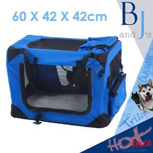 Collapsible Soft Cage Large Pen Crate Enclosure Pet Dog Puppy Tent Kennel Blue