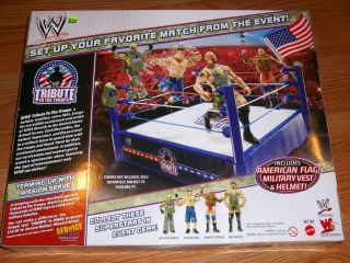 WWE Mattel Tribute to The Troops Ring Comes with American Flag Vest Helmet