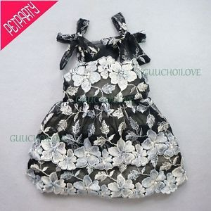 "10""Chest Party Wear Dog Dress Small Dog Shirt Floral Pet Clothes Lace Dog Skirt"
