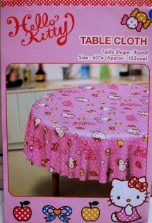 RARE Sanrio Hello Kitty Round Table Cloth