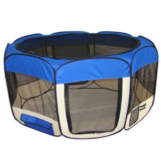 "32""49""53"" Portable Puppy Pet Dog Soft Tent Playpen Excercise Folding Crate Pen"