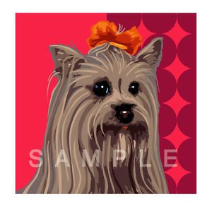 Pop Art Teacup Puppy Yorkie Yorkshire Terrier Artwork