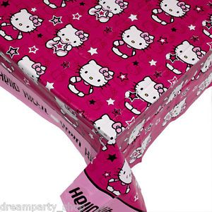 Hello Kitty Kids Childrens Birthday Party Tablecloth Table Cover