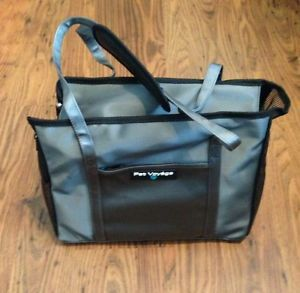 New Pet Voyage Vinyl Small Dog Cat Other Pet Carrier City Tote Grey