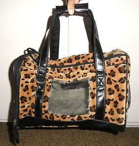 Fancy Pads for Pets Leopard Print Small Dog or Cat Carrier UEC