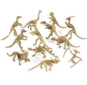 Dinosaur Bone Skelleton Plastic Fake Toys Kids Excavation Digging New Dino Lot