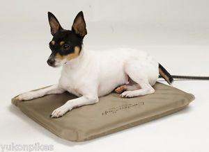 "Outdoor Heated Waterproof Orthopedic Dog Pet Bed 14""x18"" Small"