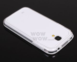 Clear White Bumper Frame TPU Silicone Case Cover for Samsung Galaxy S4 I9500