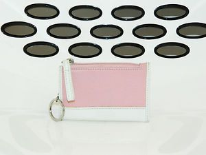 Coach Pink Textured Leather Key Chain Change Coin Wallet Purse