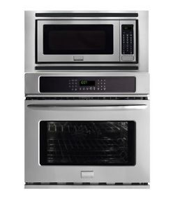 "New Frigidaire 27"" Stainless Steel Convection Wall Oven Microwave Combo"