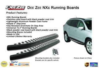08 11 Chevy Traverse Side Steps Running Boards Dee Zee NXC SS with Black Trim