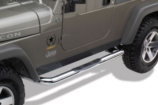 "97 04 Jeep Wrangler Nerf Side Bars 3"" Round Truck SUV Running Boards Westin"