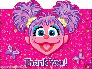 Abby Cadabby Thank You Cards Birthday Party Supplies