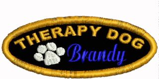 Personalized Therapy Dog Vest Patch Pet Support Patches Working Dog