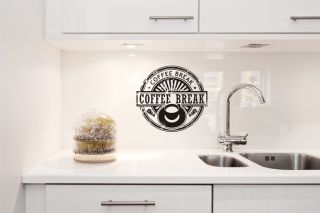 Coffee Break Vinyl Wall Art Decal Sticker