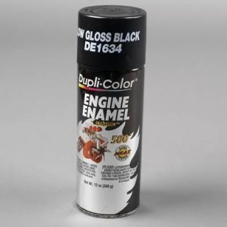 Dupli Color Paint Engine Enamel with Ceramic Resin Satin Black 12 oz Aerosol Ea