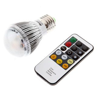 E27 LED Light Bulb Lamp Bright Remote Control Color Temperature Adjustable 4W