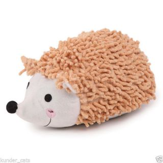 Zanies Reggie Hedgehog Plush Squeaker Fetch Dog Toy