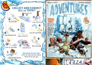 Burger King 2002 Ice Age 1 Promo 2 Toy 9 10 New Cake Decoration