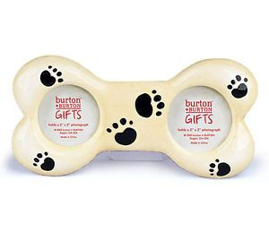 Dog Puppy Bone Treat Paw Print Photo Picture Frame Gift