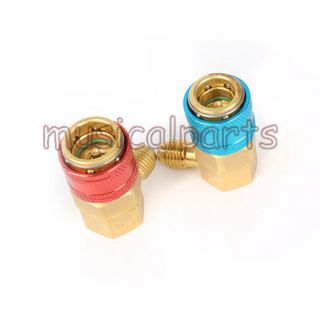 1 Pair R134a QC 15L H Adjustable Quick Couplers Connectors Adapters Refrigerant