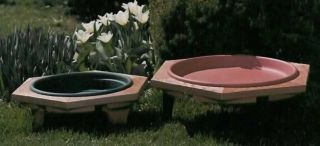 "Birdbath 22"" Garden Wood Framed Classic Bird Bath"