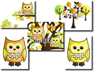 Boy Forest Owls Boys Bedroom Bird Nursery Door Sign