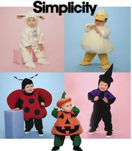 Simplicity Sewing Pattern 9318 Child Infant Costumes Kids Baby Toddler 1 2 4