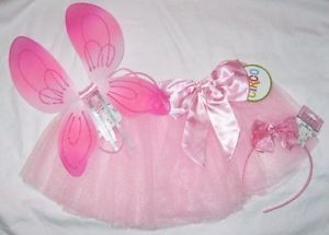 Pink Fairy Costume Tutu Wings Headband Angel Butterfly Kids Child Toddler Infant