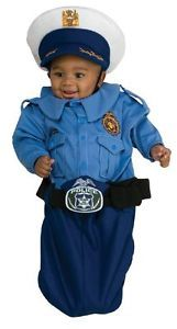 Police Officer Cop Blue Bunting Cute Dress Up Halloween Infant Child Costume