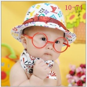 Baby Kids Boy Girl Plastic Eyeglasses Frame Party Costume Photography Prop