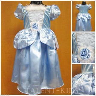Christmas Party Gift Baby Girls Blue Princess Dress Up Fancy Costume 2 9 Years