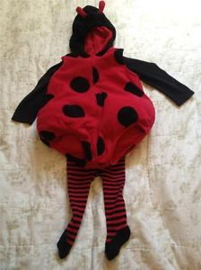Ladybug Halloween Costume Baby Toddler 18 Months Carters 3 PC Tights