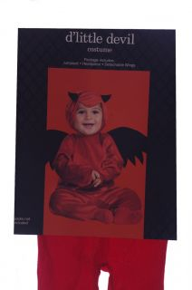 Baby Boys Girls Infant Toddler Lil Devil Costume Bat Wings Ears 12 18 Months New