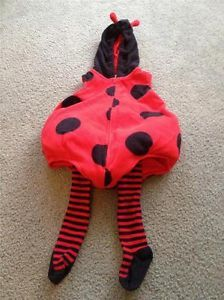 Ladybug Halloween Costume Baby Toddler 18 Months Carters 2 PC Tights