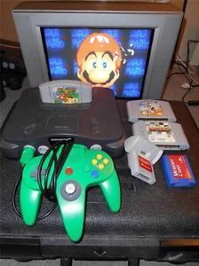 Nintendo 64 Video Game Console Lot 3 Games Super Mario N64 Star Wars Controller