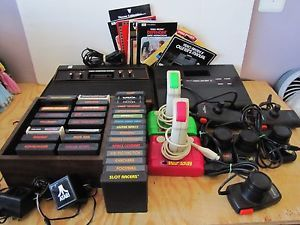 2 Video Game Console Lot Atari 2600  Arcade II 31 Games Controllers More