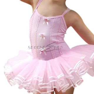 Girls Ballet Skate Dance Party Leotard Dress Kids Tutu Skirt Costume 2 6 Years