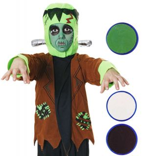 Boys Girls Frankenstein Monster Halloween Fancy Dress Kids Costume Face Paint