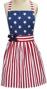 America Girl 2013 Patriotic Girlie Vintage Retro Style Kitchen Cooking Apron