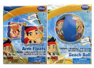 "Disney Jake Neverland Pirates Set Swim Arm Bands Floats 20"" Pool Beach Ball"