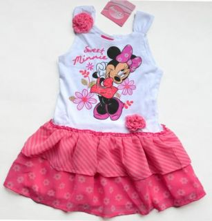 Kids Girl Minnie Princess Top Dress T Shirt SZ1 6Y Party Costume Skirt Tutu