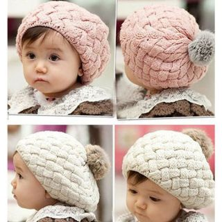 Cute Baby Kids Girls Toddler Winter Warm Knitted Crochet Beanie Hat Cap Lovely