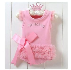 1pc Kid Baby Girl Princess Romper Jumpsuit Dress Costume Clothes Outfit 0 6M